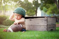 6 Month Old Boy Photo Session | Football