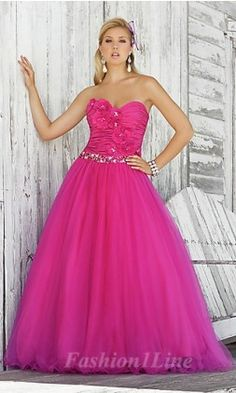 2012 Style A-line Sweetheart Hand-Made Flower Sleeveless Floor-length  Organza Prom Dresses   Evening Dresses b281ae60f975