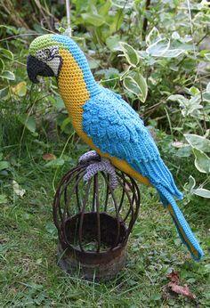 Mønster til hæklet papegøje