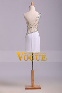 2014 Sexy Prom Dresses Sheath Short/Mini One Shoulder Beaded With Elegant Sheer Back Prom Dresses, Formal Dresses, Wedding Dresses, Mini One, One Shoulder Wedding Dress, Elegant, Sexy, Fashion, Dibujo