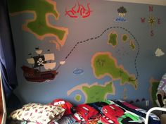 Pirate theme Mural in child's bedroom 7/2013 by Savannah Arias