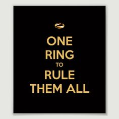 One Ring to Rule Them All poster