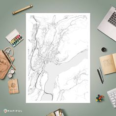 A map poster from Mapiful.com. A creative DIY tool to make your own map poster. This is 'Drano'