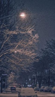 Winter night street by Martin Dugas on 500px