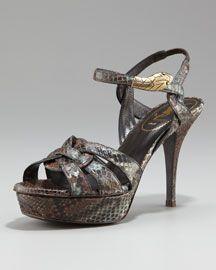 YSL - Tribute Python Snake-Ornament Sandal - Amazing!