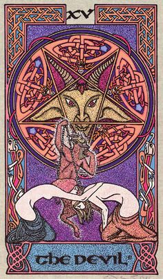 XV. The Devil - Celtic Tarot by Courtney Davis & Helena Paterson