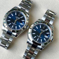 Watches Men's Rnd/ Sq Texture Strap (Black/Blue) Rolex Datejust Ref# BLUE: Fluted bezel white gold or Smooth bezel stainless.Rolex Datejust Ref# BLUE: Fluted bezel white gold or Smooth bezel stainless. Dream Watches, Luxury Watches, Cool Watches, Rolex Datejust Ii, Rolex Gmt, Rolex Boutique, Cartier Rolex, Watches Rolex, Rolex Logo