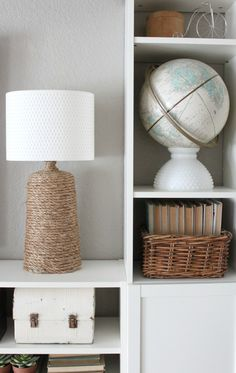 DIY Rope Lamp Base *** Check out this great article. #interiordecor