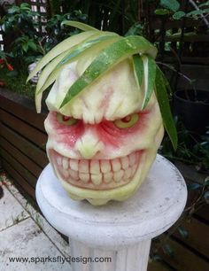 Evil Anime Watermelon by Clive Cooper of Sparksfly Design