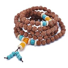 HOUSWEETY Mens Womens Tibetan Wood Bracelets Buddhist Strand Wood Prayer Beads Link Wrist Black -- BEST VALUE BUY on Amazon #BuddhistPrayer Buddhist Prayer, Wood Bracelet, Prayer Beads, Crochet Necklace, Prayers, Amazon, Link, Bracelets, Stuff To Buy