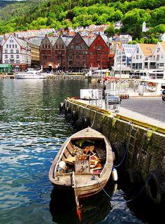 Bergen's harbour in the summer time, Norway www.facebook.com/loveswish