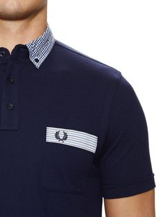 Fred Perry Gingham Trim Polo