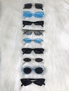 Shop our sunglasses online with FREE U. SHIPPING 🌈 Get em while they're hot! sunglasses A few summery shades. Trending Sunglasses, Cute Sunglasses, Black Sunglasses, Sunglasses Online, Sunnies, Cat Eye Sunglasses, Blue Aesthetic, Aesthetic Clothes, Mode Ootd
