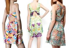 CUT OUT.vestido de H de estampado de plumas por 14.95 €, este floral de Mango o de Pull por 29.99€ ambos.