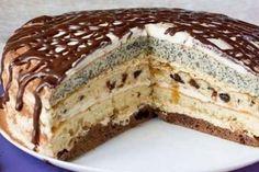 Torta Banániky v čokoláde - Mňamky-Recepty. Romanian Desserts, Russian Desserts, Russian Recipes, Köstliche Desserts, Delicious Desserts, Yummy Food, Hungarian Cake, Homemade Pastries, Custard Cake