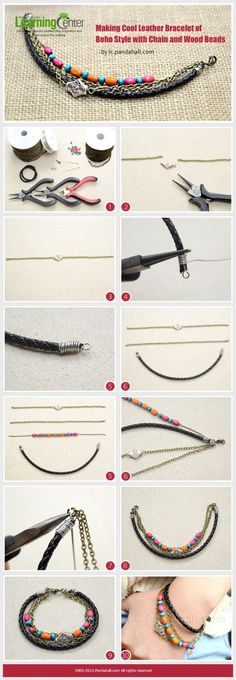 学习制作波西米亚风格的手链