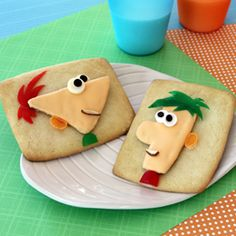My kids would LOVE these Phinneus and Ferb cookies!