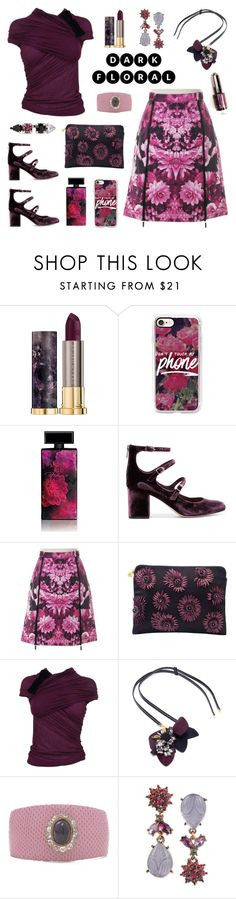 """In Bloom: Dark Florals"" by deepwinter ❤ liked on Polyvore featuring Urban Decay, Casetify, Elizabeth Arden, Sam Edelman, Michael Kors, Forest of Chintz, Giambattista Valli, Marni, Turner & Tatler and Betsey Johnson"