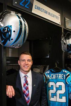Panthers new Player Panthers Football, Football Fans, Football Helmets, Carolina Football, Carolina Panthers, Christian Mccaffery, Luke Kuechly, Panther Nation, American Football Players
