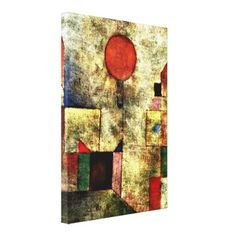 Paul Klee art: Red Balloon Stretched Canvas Prints #giftsreview#gifts#art#beautiful