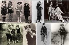 La mode des années 20 est chère à Erich dans ses romans... Dans Double noeud - 1 Les Meurtres de Brandys Bay, les premières baigneuses qui osent montrer un peu plus de leurs corps sont citées... et défendues par l'héroïne, Rosemary Bartell... Agatha Christie, Megan Brown, 1920s Photos, Roaring 20s, Brown Fashion, Beauty Trends, Strong Women, French Vintage, The Twenties