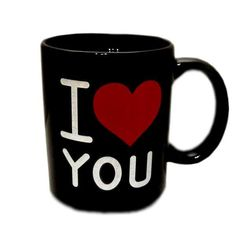 Čarovný hrnček I Love You - čierny