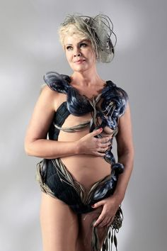 """Reetta """"This is absolutely the most remarcable project that I've ever seen, heard, or been part of; considering that there is no need to see women with mastectomy as sad persons. It shows that project has achieved maybe even more that it originally was planned. Happy and proud to be part of it, a big thank you!""""  SWIMSUIT DESIGN BY VILMA RIITIJOKI"""