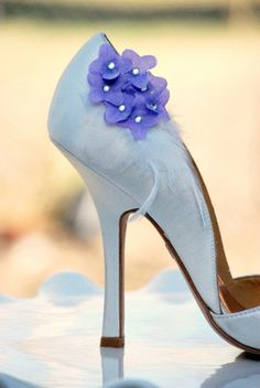 Sweet Lilac Hydrangeas Shoe Clips Pearl or by sofisticata on Etsy