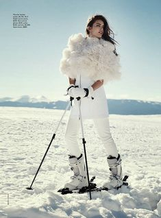 """Let it Snow"" Emily DiDonato by Benny Horne for Vogue Australia June 2014"