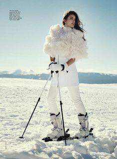"""Let it Snow"" Emily DiDonato by Benny Horne for Vogue Australia June 2014"