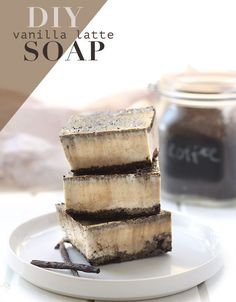 Easy DIY Vanilla Latte Soap that's ready in under an hour! There's so many benefits to using coffee in your skincare routine.