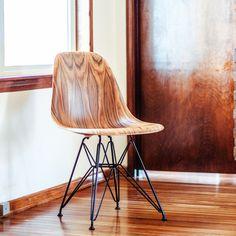Stunning Herman Miller Eames Molded Wood Side Chair In Santos Palisander