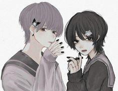 Pretty Drawings, Dark Art Drawings, Cute Anime Boy, Anime Art Girl, Kawaii Art, Kawaii Anime, Pretty Art, Cute Art, Character Art