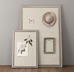 Antiqued Pewter Wood Pinboards