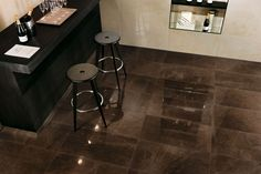 Marvel Bronze Luxury - achieve the look of Gris Pulpis marble with the cost and durability of porcelain