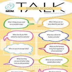 iMOM Before School Talk Sheet