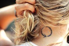 #girly #neck #tattoo #minimal #karma #karma tattoo