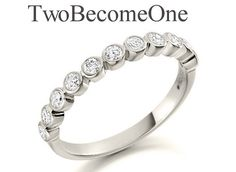Ladies 18ct White Gold Half Set Brilliant by TwoBecomeOneDesigns