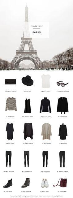 Travel Light - Pack for Winter in Paris. 20 items, 10 outfits, 1 carry-on. Travel Light - Pack for Winter in Paris. 20 items, 10 outfits, 1 carry-on. Source by hejdoll. Paris Outfits, Mode Outfits, 20s Outfits, Europe Outfits, Casual Outfits, New Travel, London Travel, Travel Style, Travel Tips