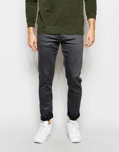 Jack & Jones Coated Slim Grey Jeans