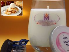 Hot Apple Pie Scented Marquee Candle