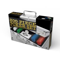 200 pc Poker Set In Aluminum Case Best Offer. Best price   Includes 200 dual-toned poker chips. One deck of poker cards plus dealer chips. Housed in a beautiful and sturdy aluminum case. A take anywhere set