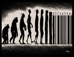 rainbowvines:  silent-michael:  deficientofhope:   We evolve into a product of society.  Best picture. Ever.  Omg  …Woah