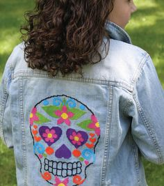 Cross Stitch Sugar Skull (with pattern)