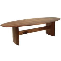 Jantar Ellipse Dining Table In Walnut By Thomas Hayes Studio