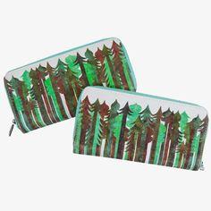 Evergreen Canvas Zip Wallet
