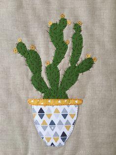 Kaktus fra tæppet syet efteråret 2017 - eget design.