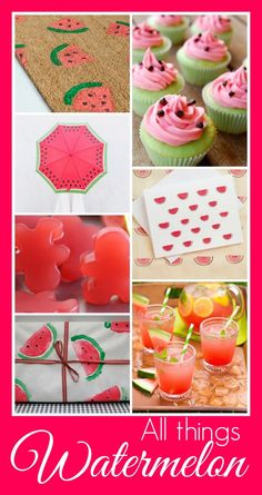 All Things Watermelon: Watermelon recipes, watermelon drinks, watermelon crafts, watermelon DIY projects, all of which SCREAM summer.