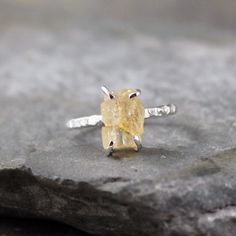 Yellow Topaz Ring  Imperial Topaz  Sterling Silver by ASecondTime, $175.00