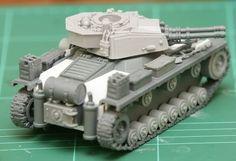Panzer Style Tank Conversion: Panzer IV kugelblitz. Warseer user: B-C Angelis